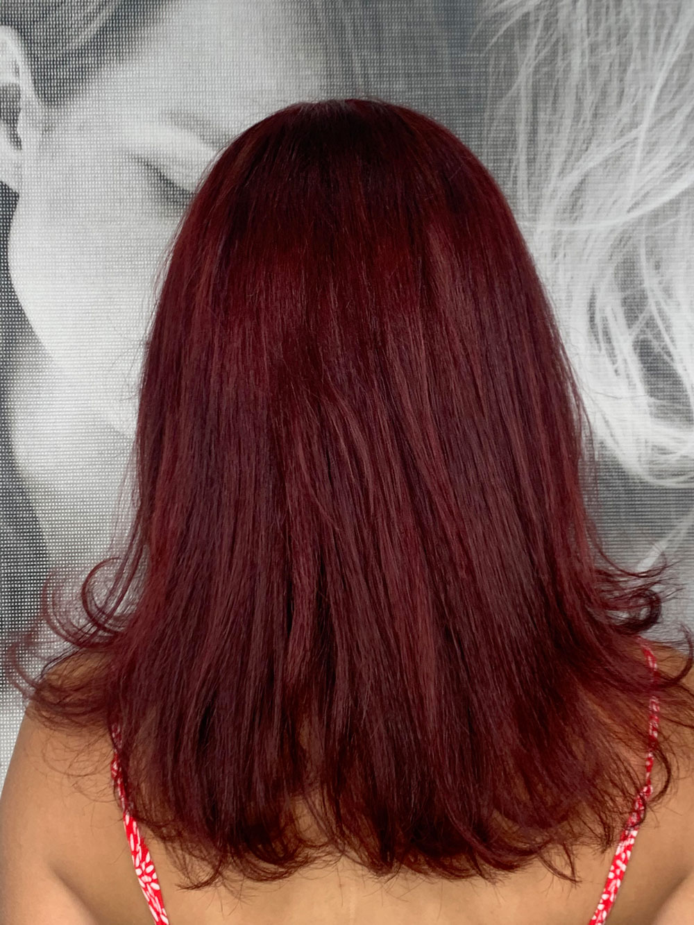 woman with red coloured hair